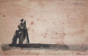 Галантная сцена. Тушь, бумага. 2004.