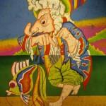 Оригин серия Карнав СПб 1990 Бумага, смеш.техн 51х41 см