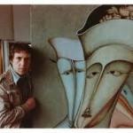 В.Высоцкий рядом с картиной М.Шемякина