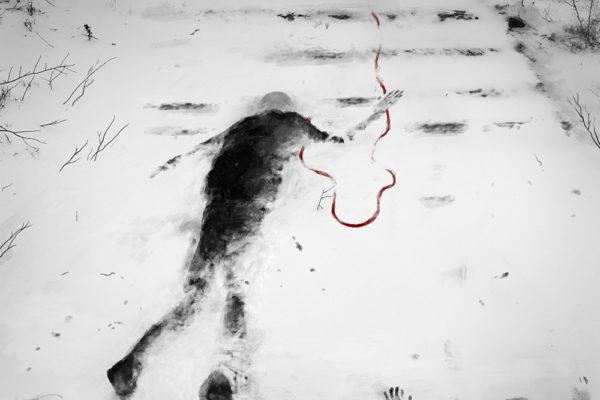 Виталий Ильин. Полосатый снег, 2019, цифровая графика, коллаж
